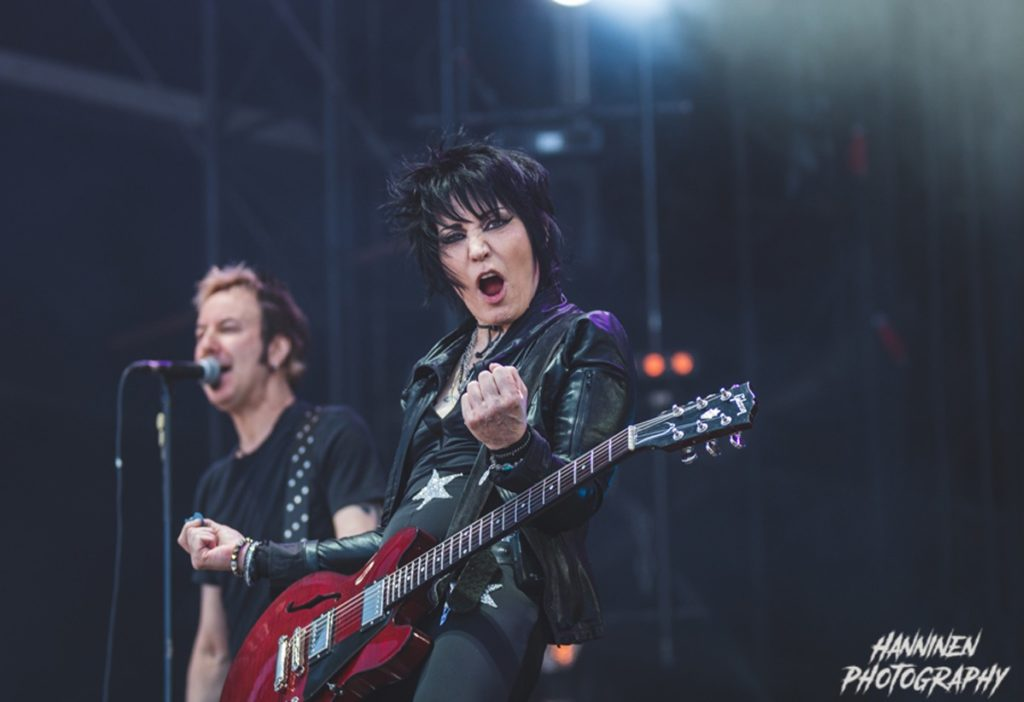 Joan Jett on stage. Photo by Patty Gonzales